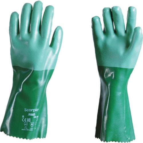アンセル 耐薬品手袋 スコーピオ 08-354 XLサイズ_
