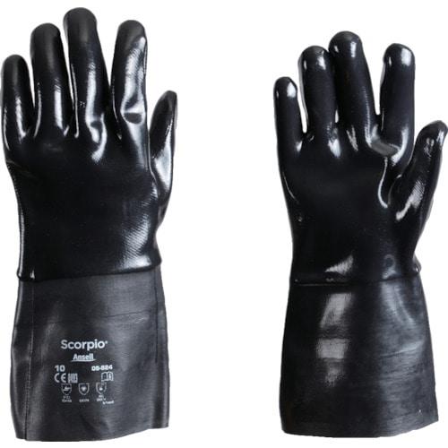 アンセル 耐薬品手袋 スコーピオ 09-924 XLサイズ_
