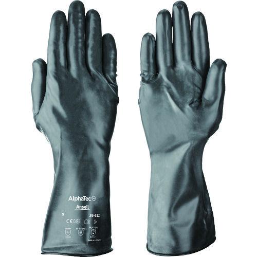 アンセル 耐薬品手袋 ケミテック 38-612 XLサイズ_