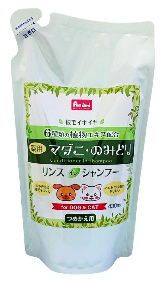 Petami 薬用マダニ・のみとり リンスインシャンプー 替え 430ml