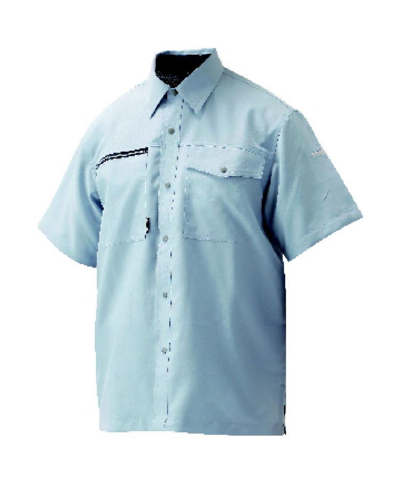 吸汗速乾半袖シャツ ブルー L KSS-1921