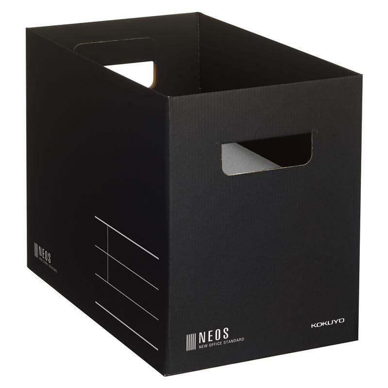 コクヨ 収納ボックスM 黒 A4-NEMB-D