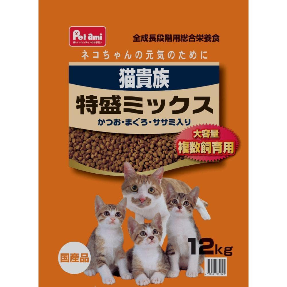 Petami 猫貴族 特盛ミックス かつお・まぐろ・ササミ入り 12kg