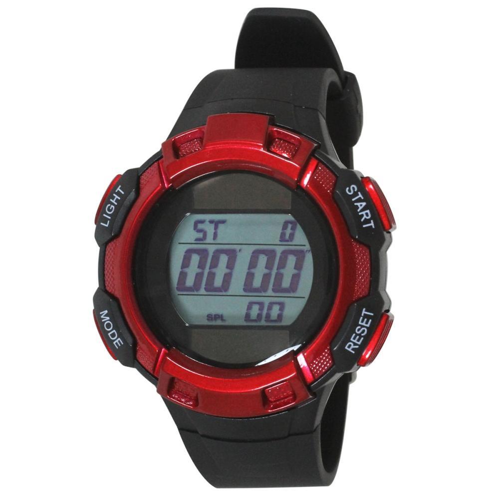 クレファー TELVA デジタル腕時計 レッド TE-D053-RD
