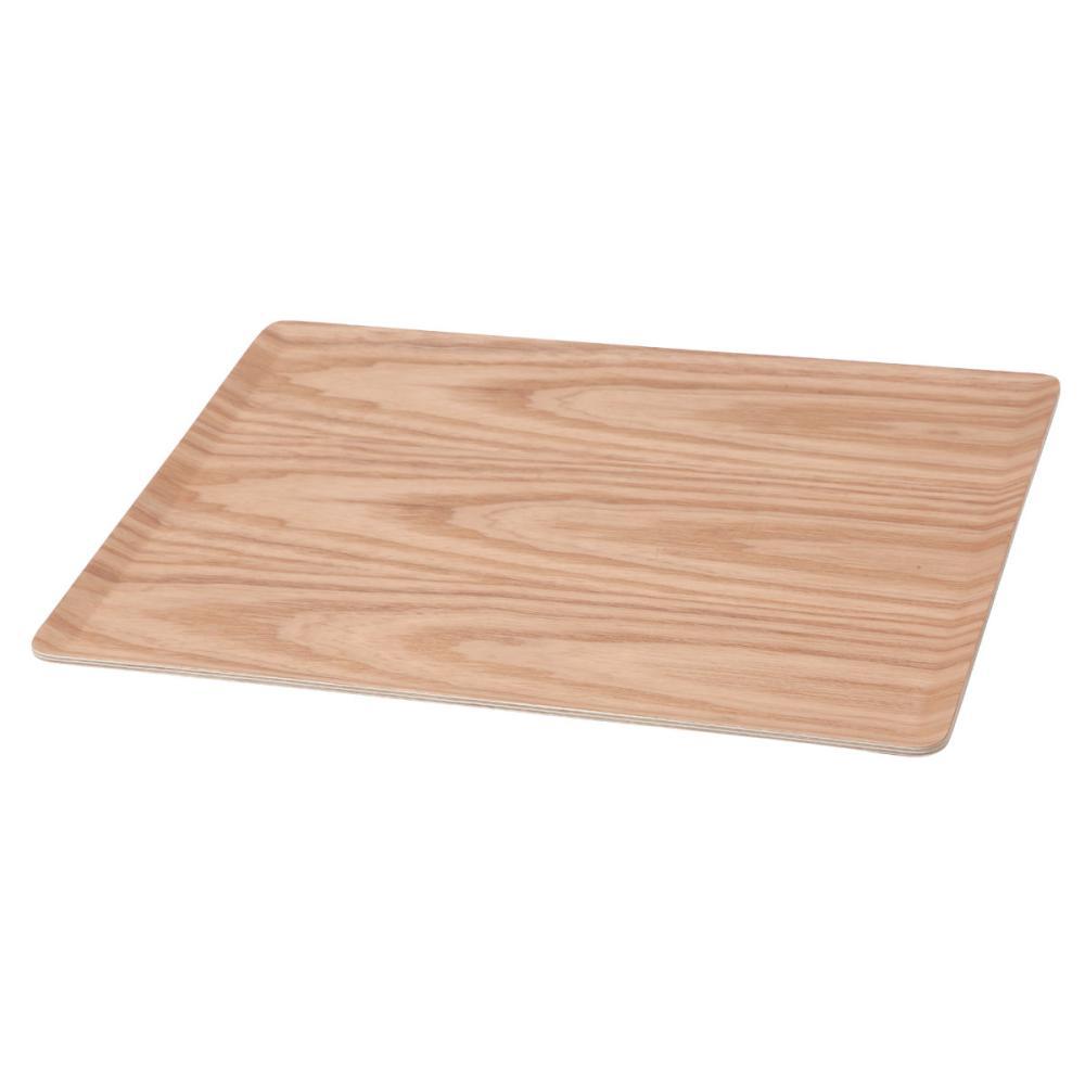 アテーナライフ 滑りにくい木製トレー M 幅36×高さ1.2×奥行28cm GF12036