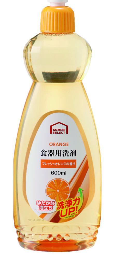 コメリセレクト 食器用洗剤 フレッシュオレンジの香り 本体 600ml