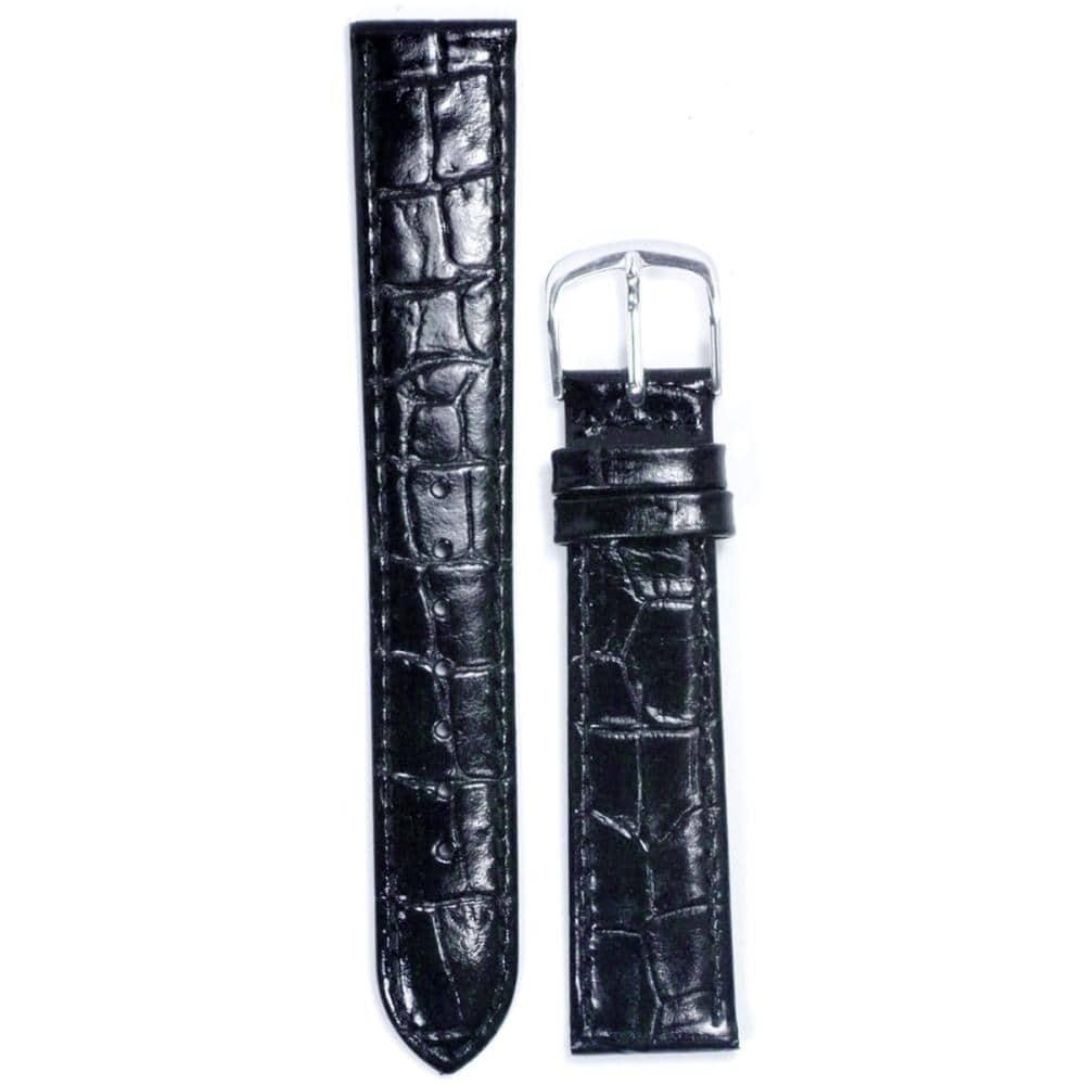 クレファー 腕時計用 皮バンド 牛革 黒 14mm L-45 BLCF031