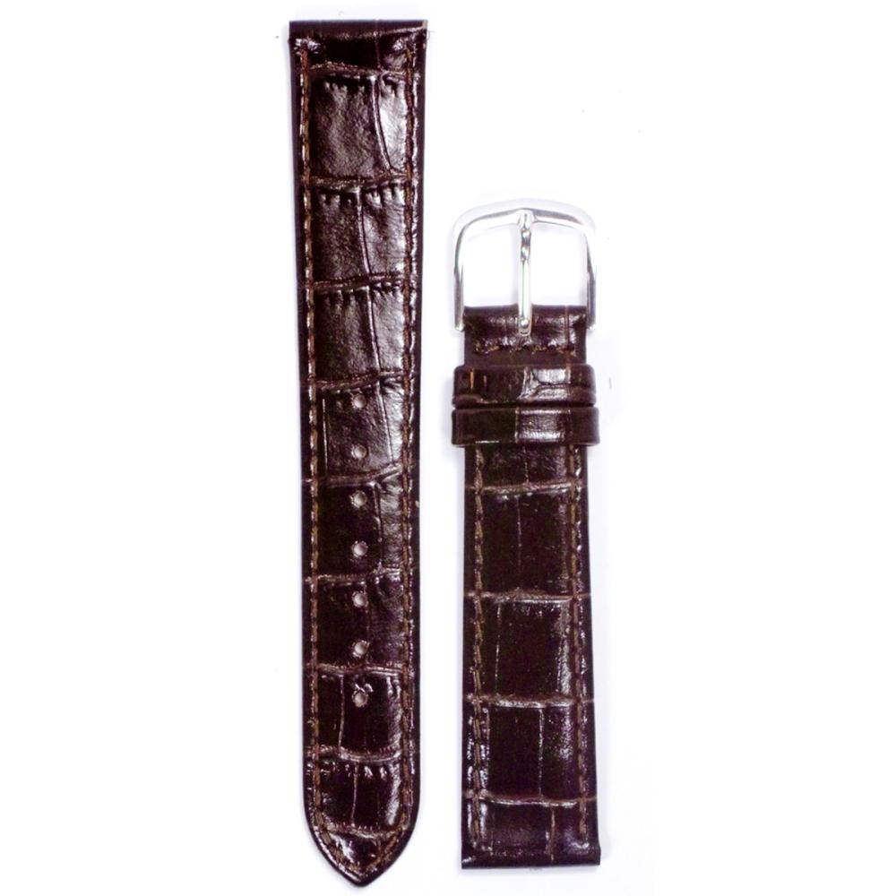 クレファー 腕時計用 皮バンド 牛革 濃茶 20mm L-119 BLCF033
