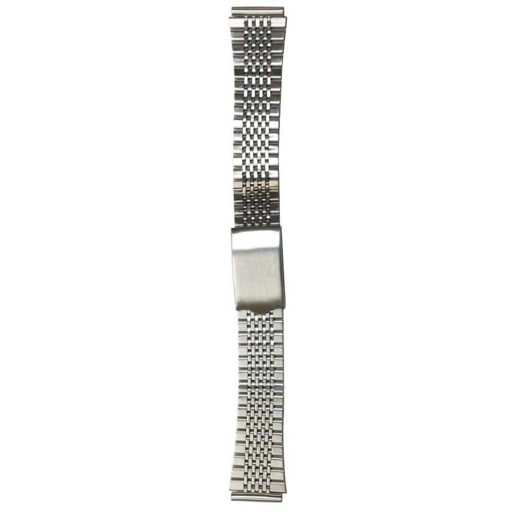 クレファー 腕時計用 メタルバンド ステンレス 銀 18~20mm M-14