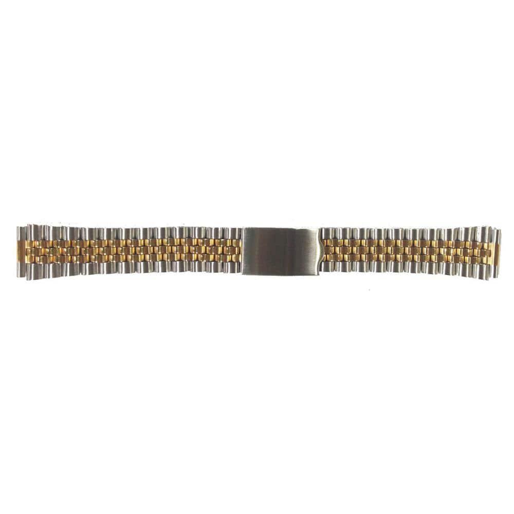 クレファー 腕時計用 メタルバンド ステンレス 銀/金 18~20mm M-20