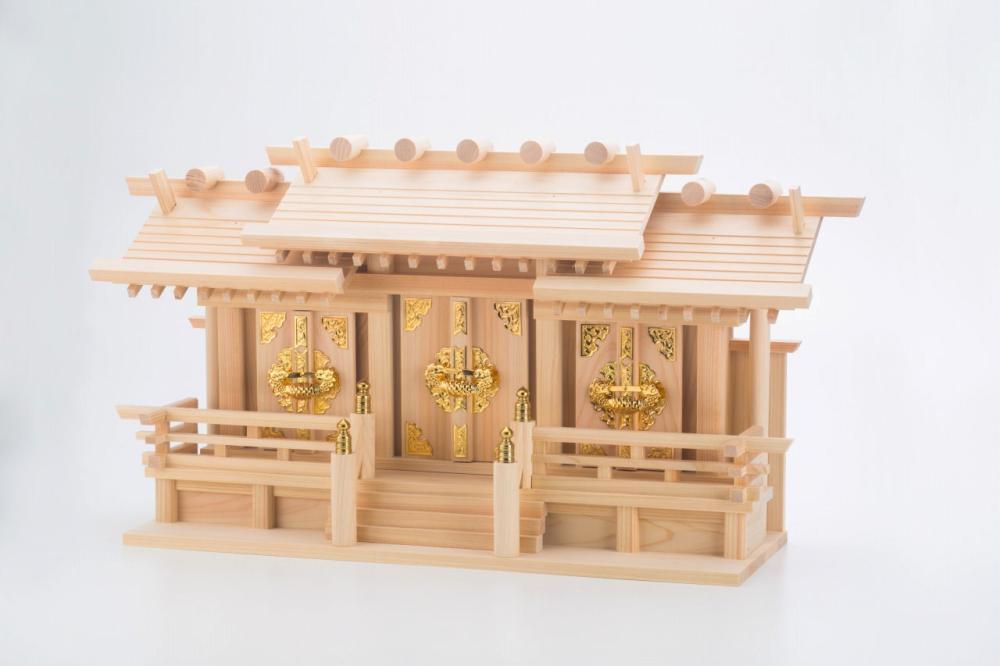 超低床屋根違い三社 聖