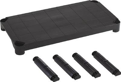 TRUSCO プラ棚用 棚板セット軽量型 脚付 800X350 黒_