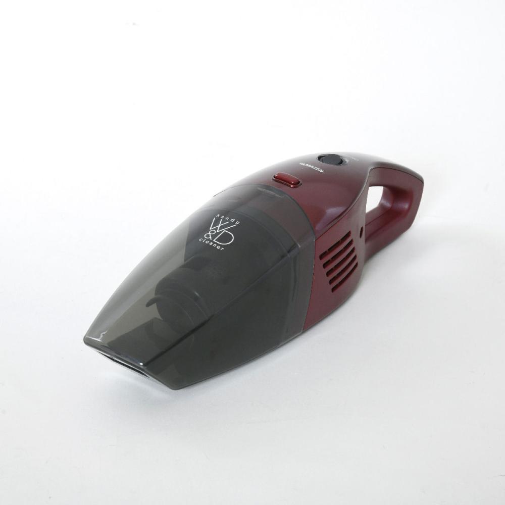 山善 ウェット&ドライ コードレスハンディクリーナー レッド ZHG-NW48