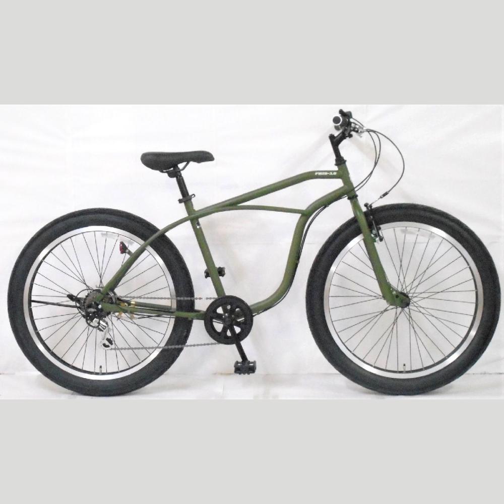 ビーチファットバイク 26インチ グリーン 266T19