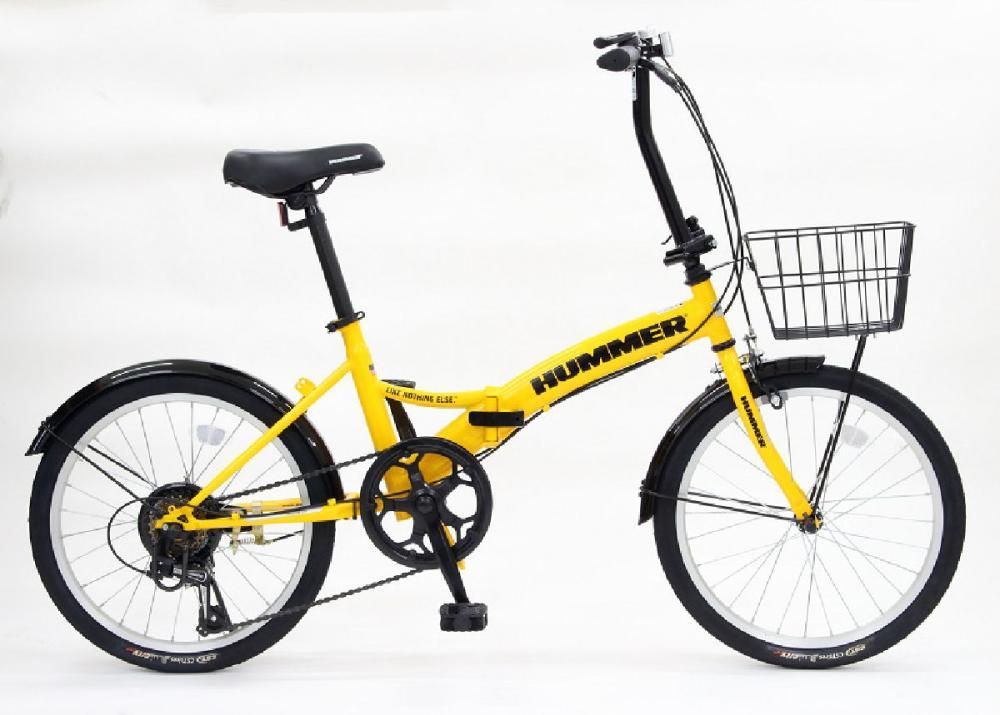 HUMMER(ハマー) 折り畳み自転車 イエロー 206J19