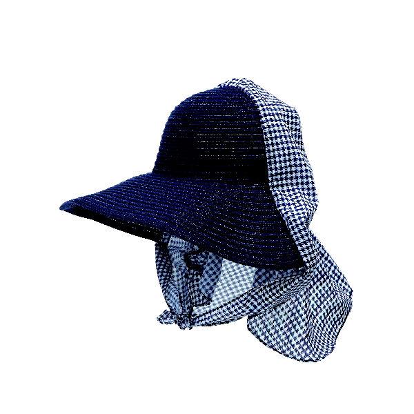 麦わら調農園帽 ネイビー アソート SR1708-002