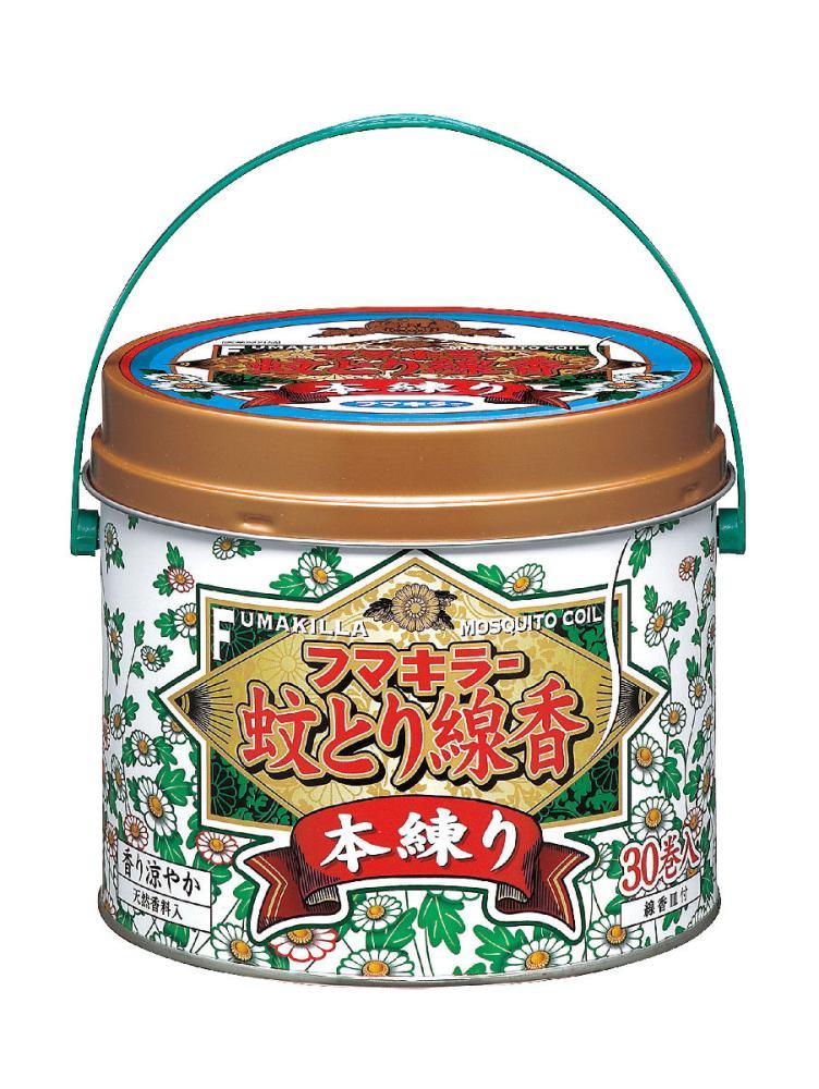 フマキラー 蚊とり線香 本練り 30巻 缶入