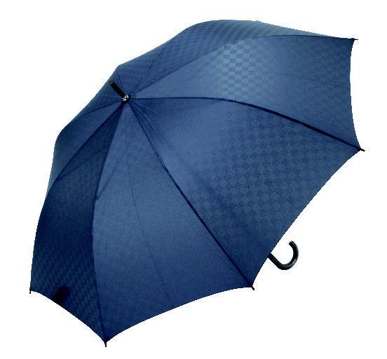 軽くて持ちやすい大判傘68cm ネイビー市松
