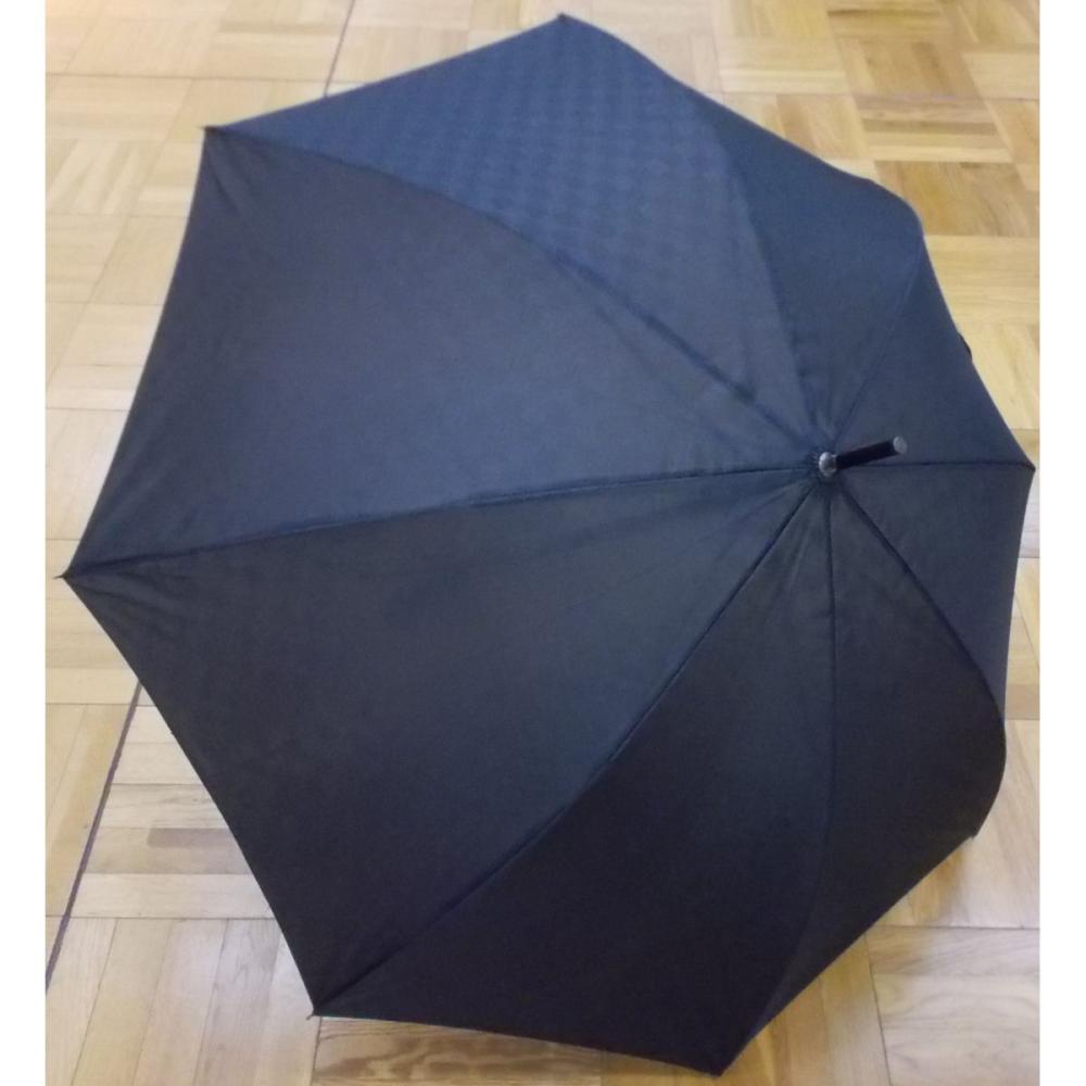 軽くて持ちやすい大判傘 68cm ブラック市松
