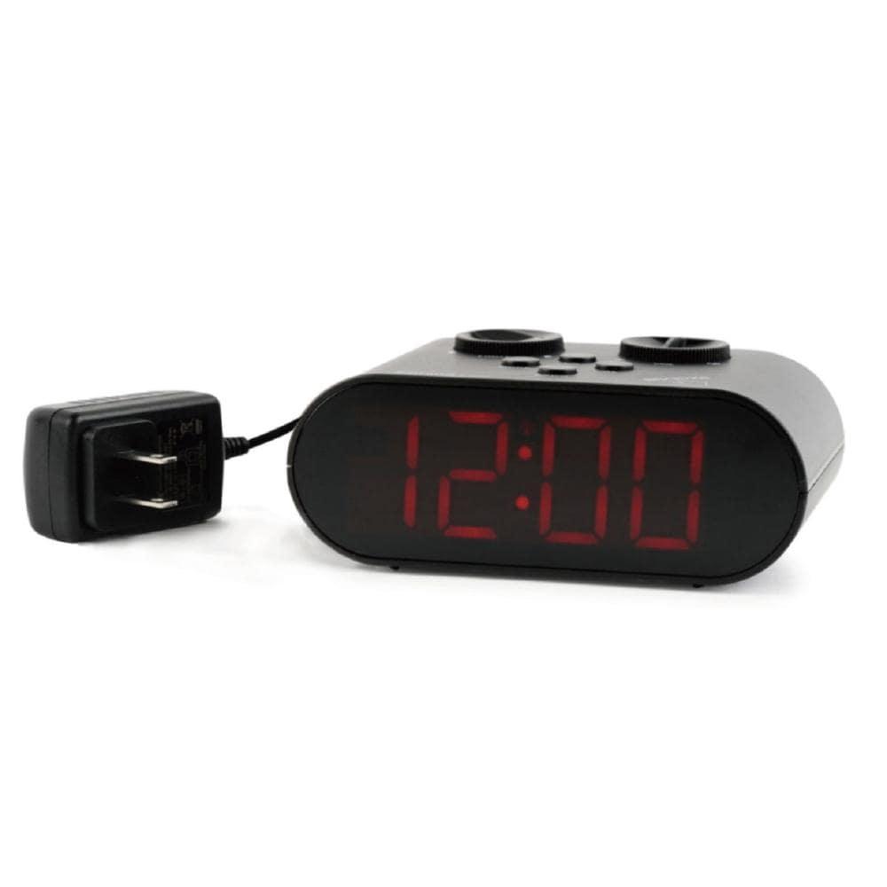 HDH LED電波目覚し時計 ブラック HT-010RCBK