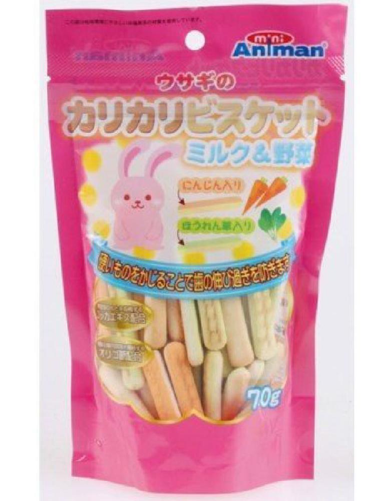 ドギーマン ウサギのカリカリビスケット ミルク&野菜 70g