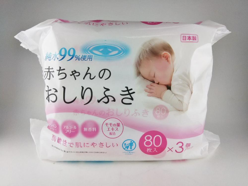 コメリセレクト 赤ちゃんのおしりふき 80枚×3個パック