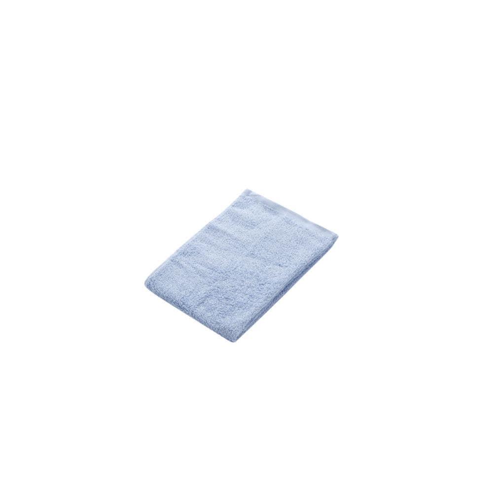 アテーナライフ フェイスタオル やわらかタオル ブルー 34×80cm