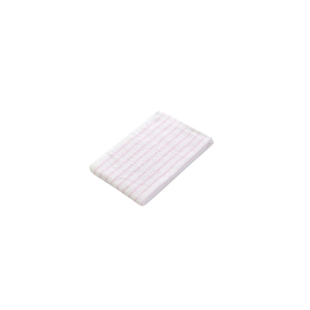 アテーナライフ フェイスタオル やわらかタオル ピンク/ホワイト 34×80cm