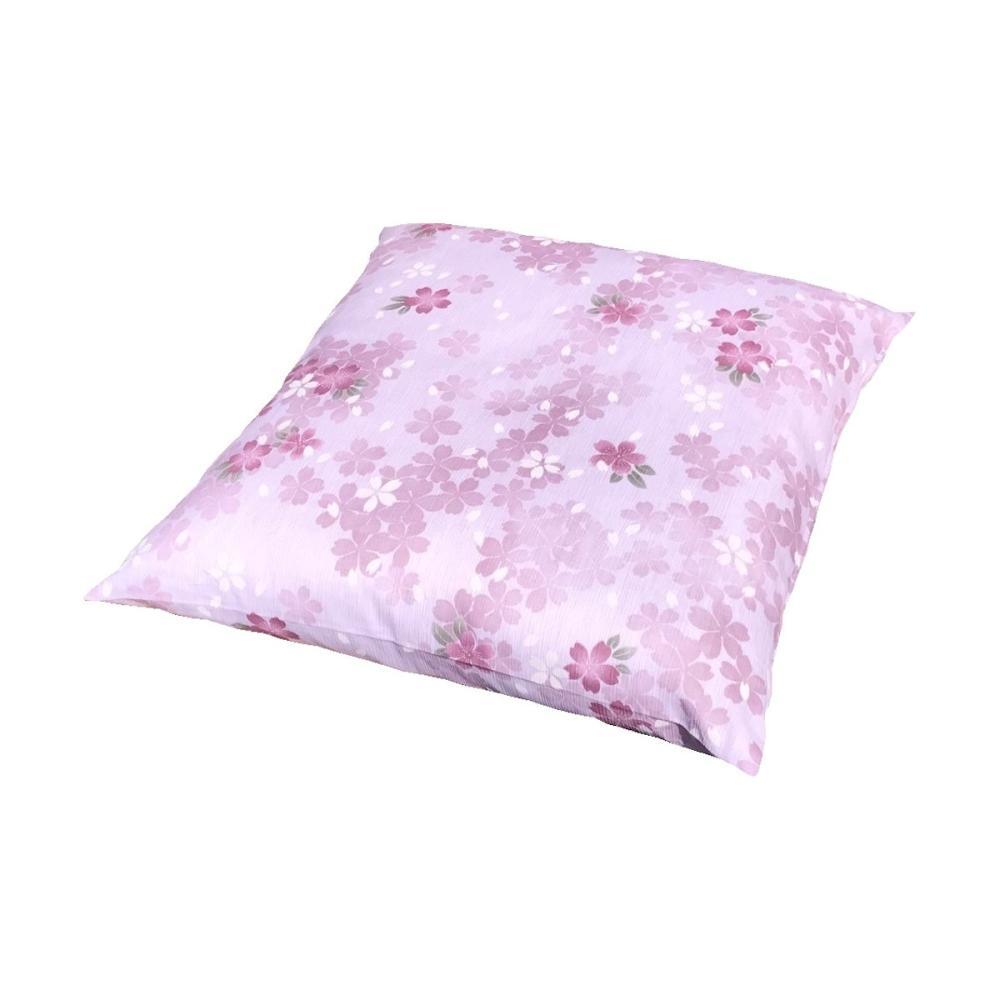 座布団カバー 高島ちぢみ 桜 ピンク 55×59cm