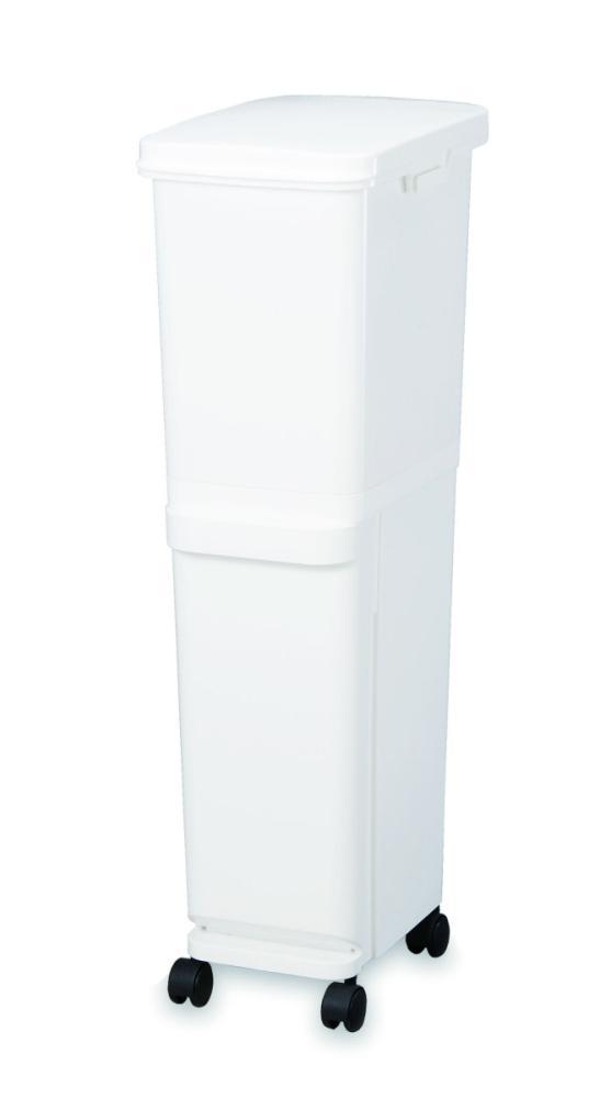 トンボ ネオカラー分別スリムペール 2段35 ホワイト
