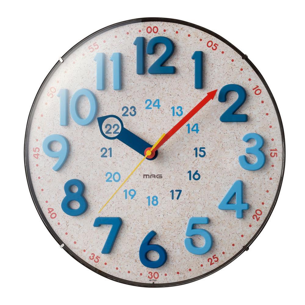 ノア精密 インテリア電波掛時計 W-750N