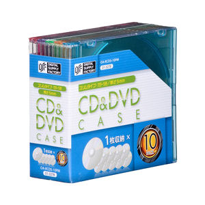 CD&DVDケース 5mm 10個入り カラー