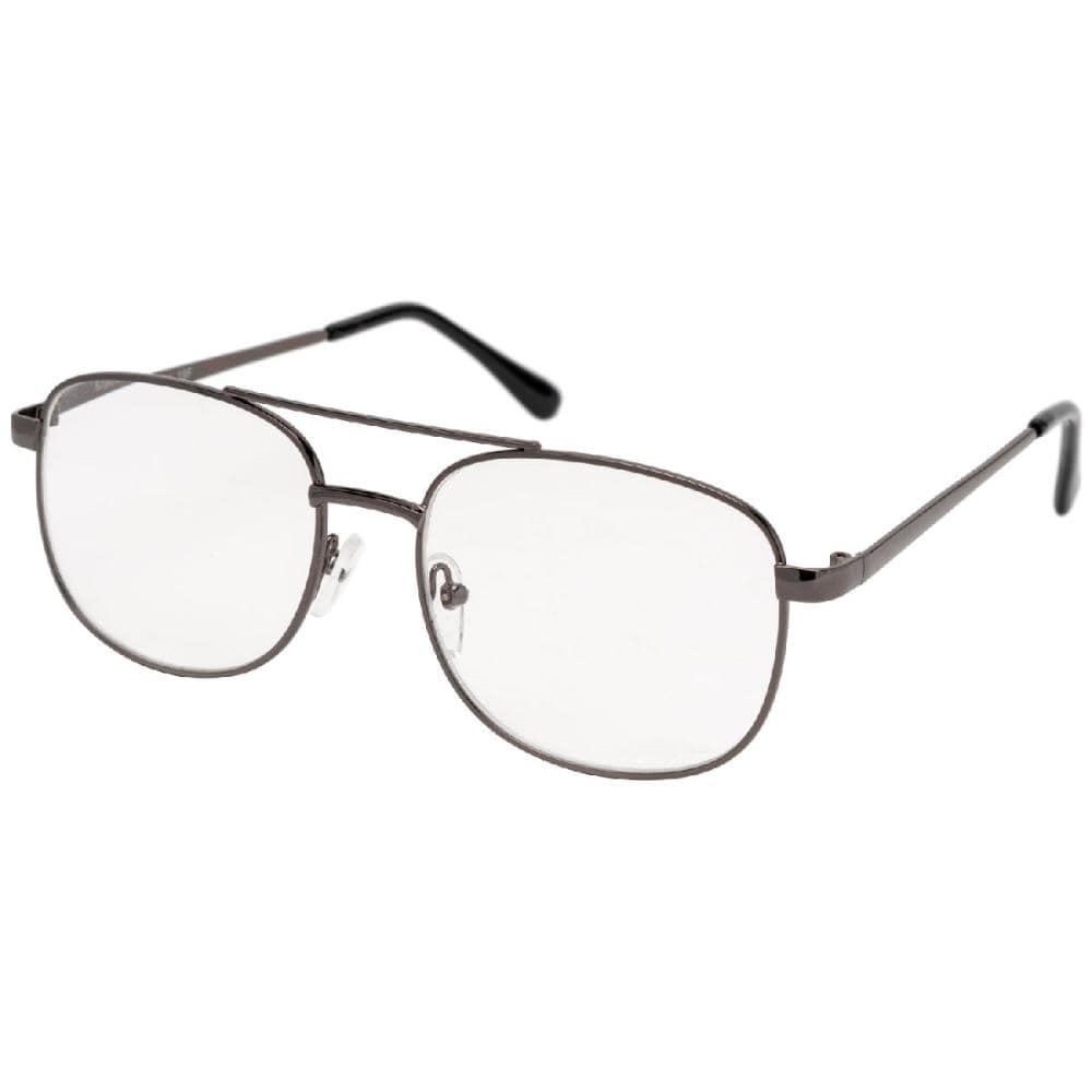 気軽に掛けられる老眼鏡 メタルフレーム 3.5度 KRG-FM01-3.5