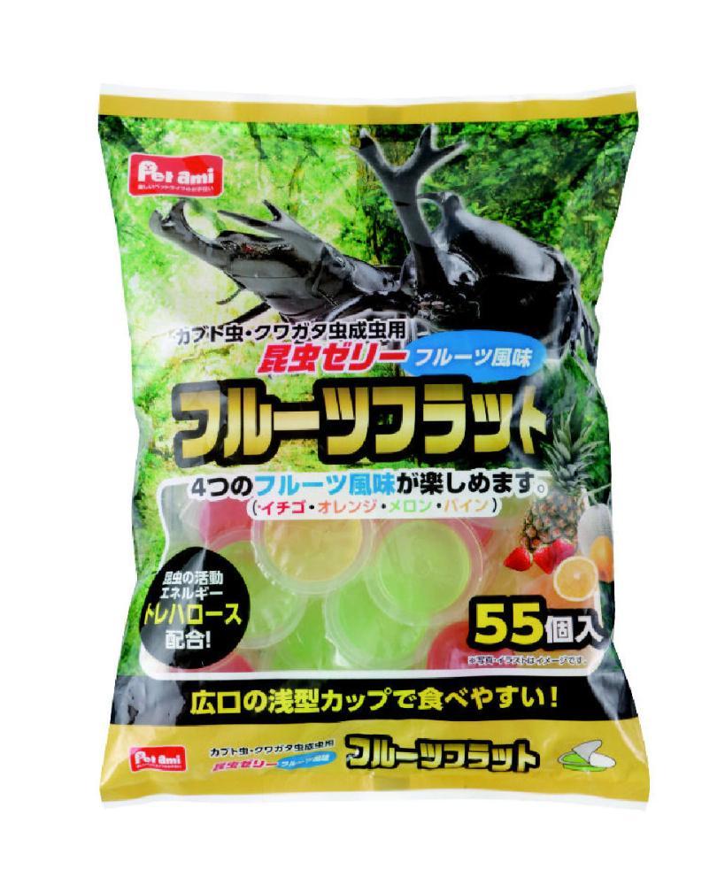 Petami フルーツフラット昆虫ゼリー フルーツ風味 55個入