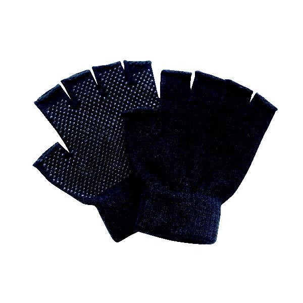コメリ 指切り滑り止め手袋 ブラック