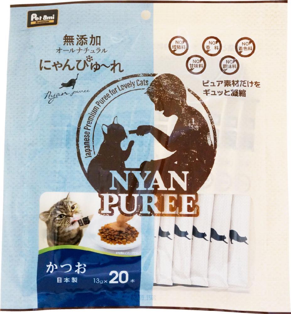 Petami Premium 無添加にゃんぴゅ~れ かつお 20本入