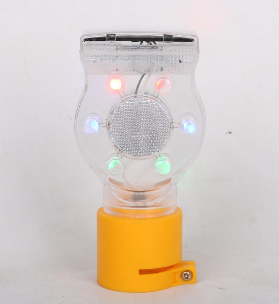 ソーラーLED点滅灯 クリア SF010BBFRGB