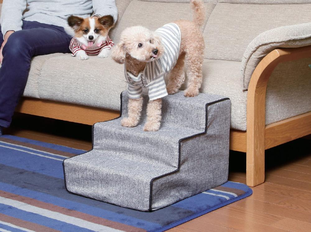 Petami ペットステップ 超小型犬・小型犬用 グレー