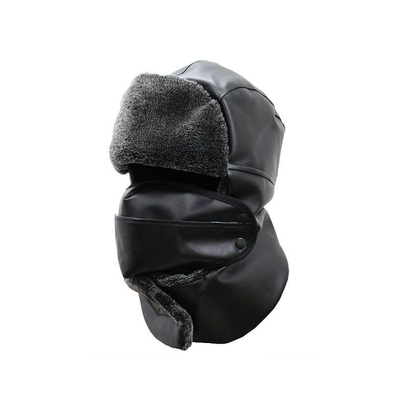 防寒PUフード マスク付 HX-005