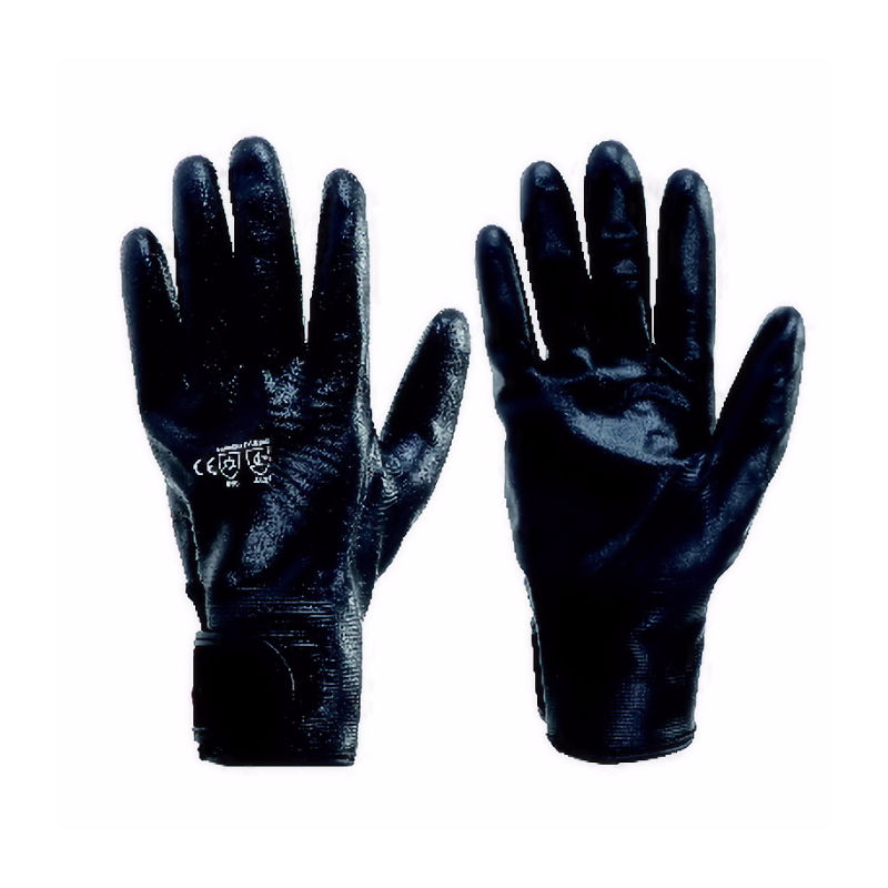 コーコス信岡 防水防寒ニトリル手袋 ブラック N-3140 各種