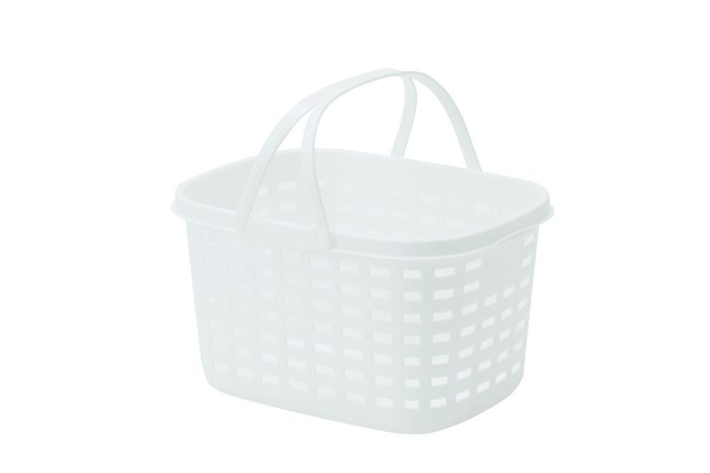 ランドリーバスケット M 浅型 ホワイト