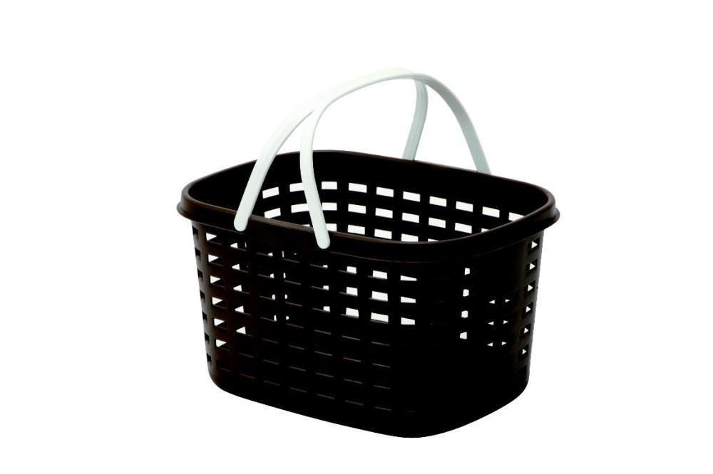 ランドリーバスケット M 浅型 ブラウン