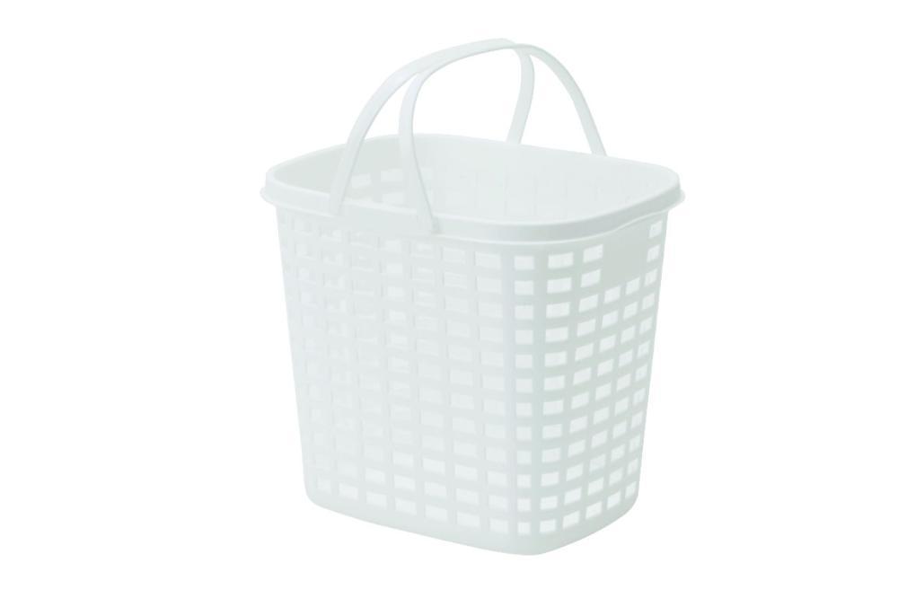 ランドリーバスケット L 深型 ホワイト