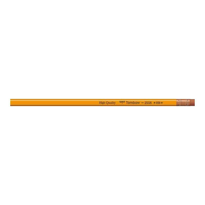 トンボ鉛筆 ゴム付鉛筆 2558 HB
