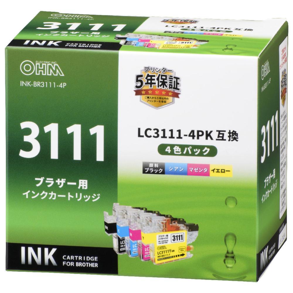 ブラザー 互換インク 4色パック BR3111
