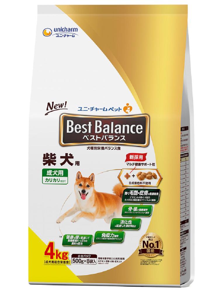 ベストバランス カリカリ仕立て 柴犬用 成犬用 4.0kg
