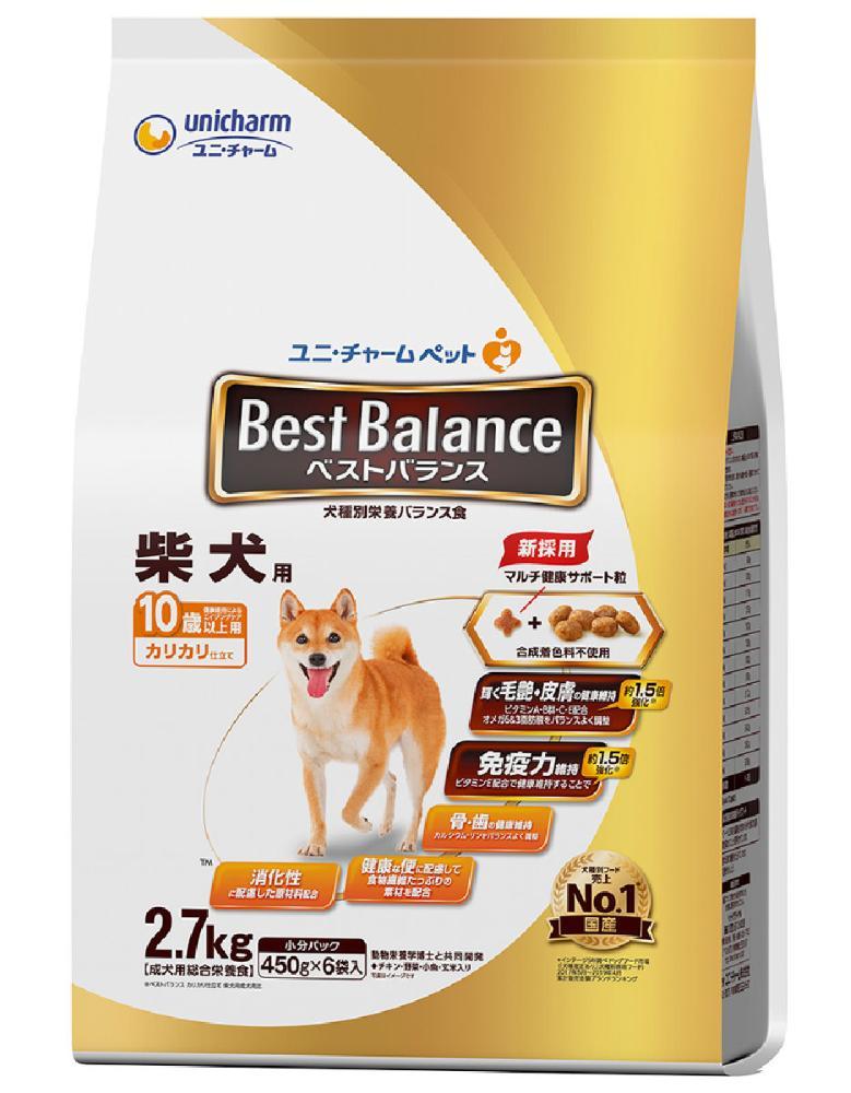 ベストバランス カリカリ仕立て 柴犬用 10歳以上 2.7kg