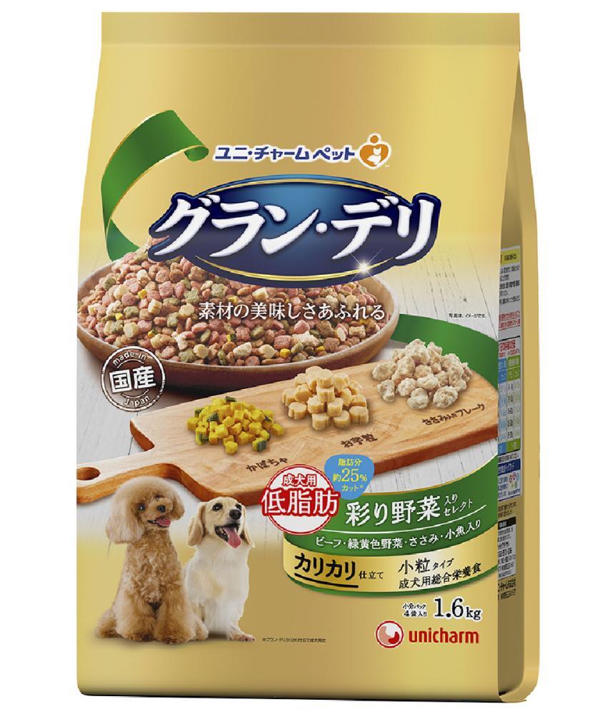 グランデリ カリカリ仕立て 成犬用低脂肪 彩り野菜入り 1.6kg