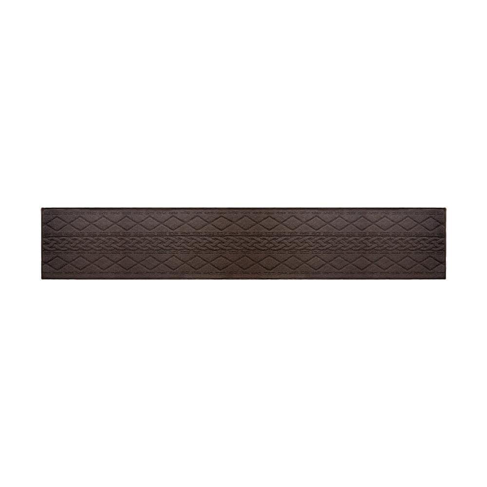 オカトー サニーインテリアマット ブラウン 45×252cm