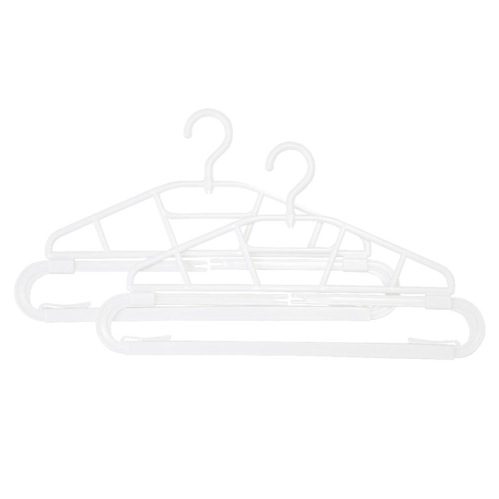 アテーナライフ 伸縮バスタオルハンガー 2本組